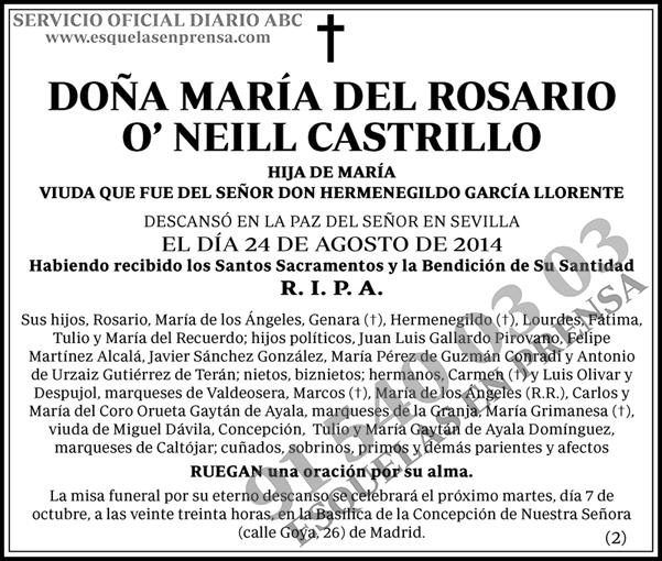 María del Rosario O´Neill Castrillo